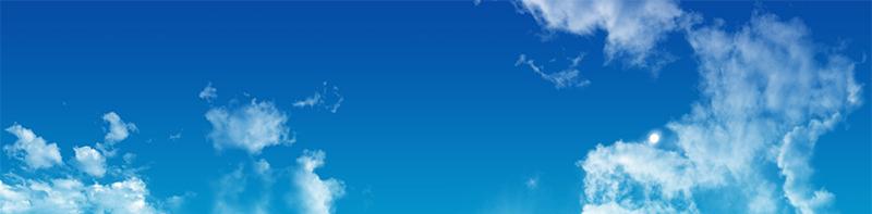 Cielo Azul con nueves